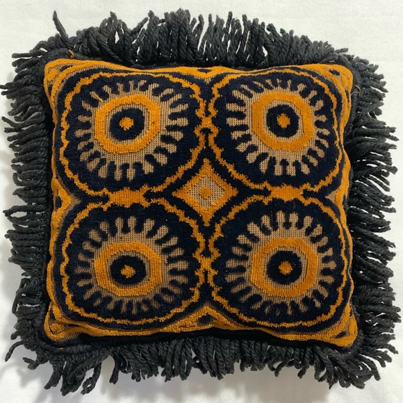 Other - Vintage | 70s Weave Fringe Throw Pillow